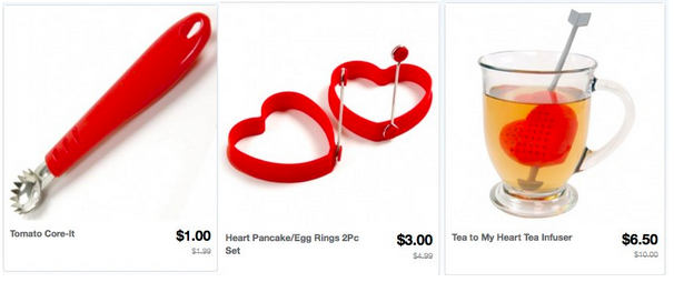 Valentine's Day Kitchen Gadgets as low as $1.00 + FREE Shipping!