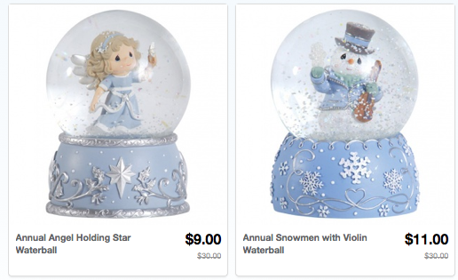 Precious Moments Snow Globes Sales and Deals