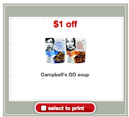 Campbell's GO Soup Target Coupon