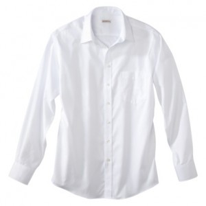 Merona Men's White Dress Shirt Deals