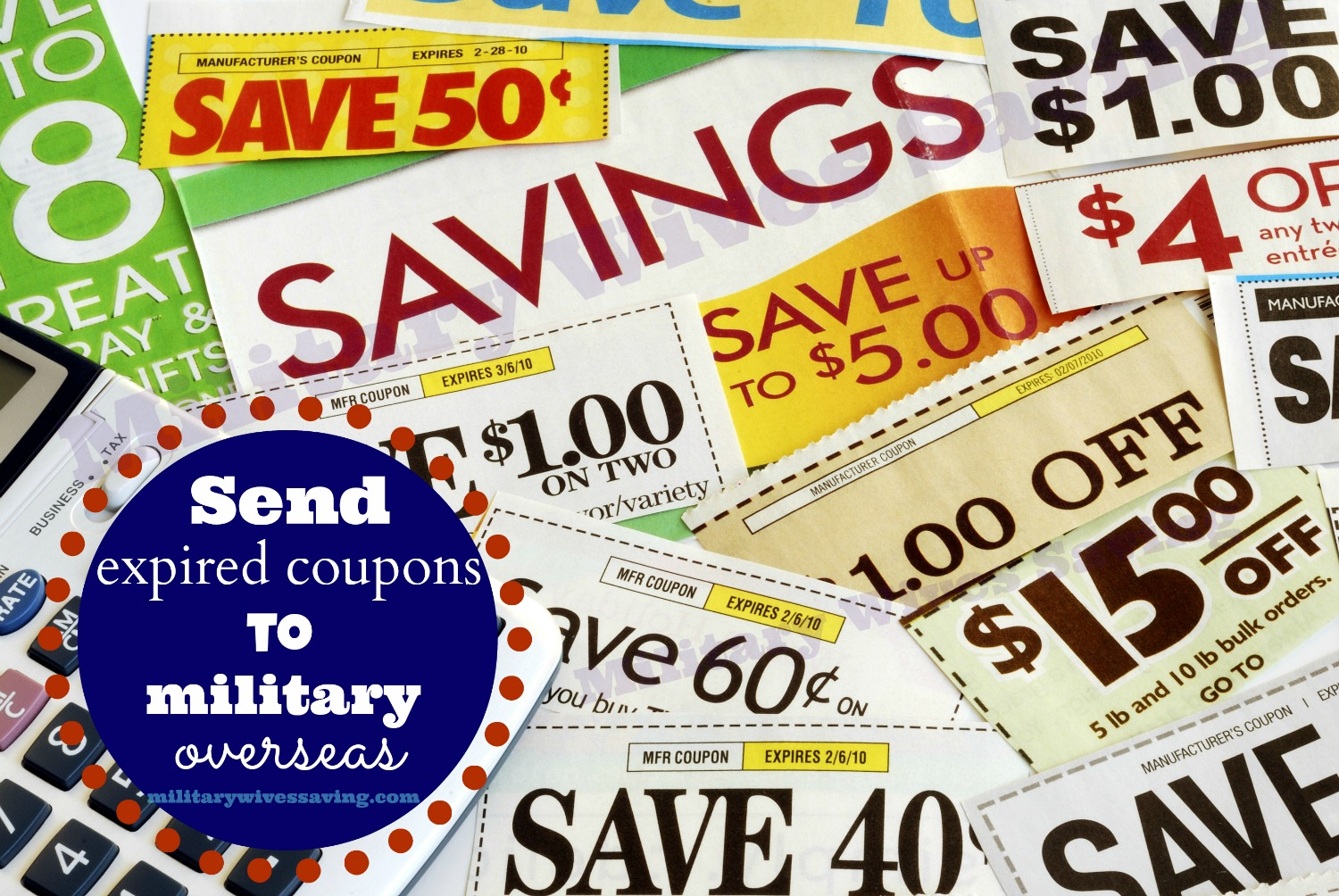 Send expired coupons to military overseas