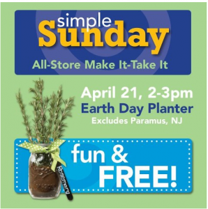 Earth Day Freebies JoAnns Free Planter