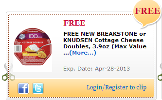 Free Breakstone's or Knudsen Cottage Cheese Coupon