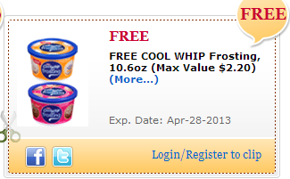Free Cool Whip Frosting Coupon