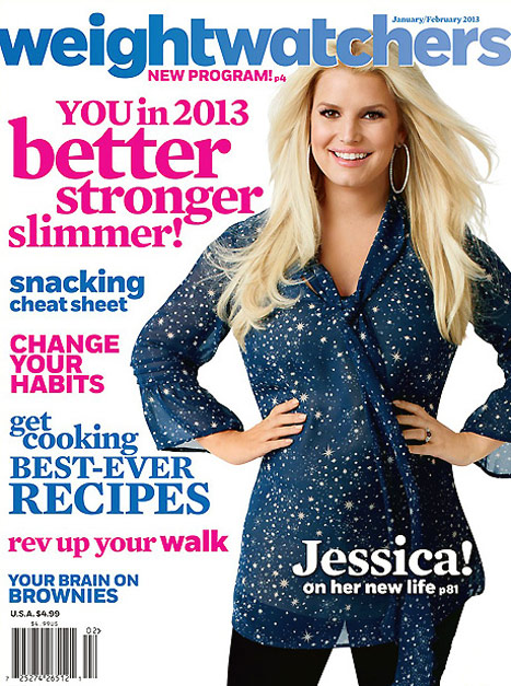 Jessica Simpson Weight Watchers Cover Issue