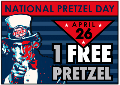 Philly Pretzel Factory National Pretzel Day Freebies