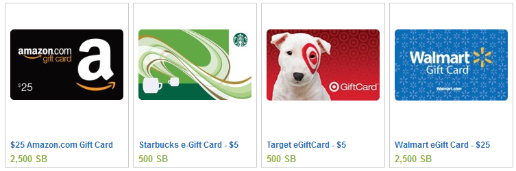 Swag Bucks Gift Cards