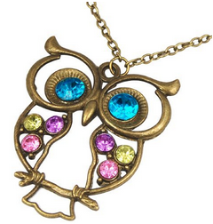 Vintage Retro Owl Pendant Necklace