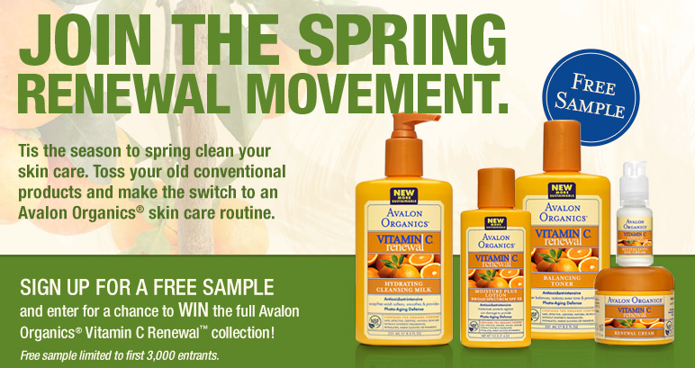 Free sample of Avalon Organics
