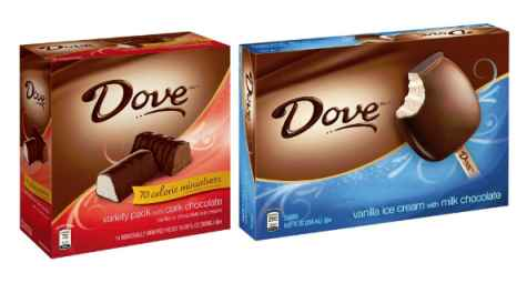 Dove Ice Cream Bars Coupons and Deals