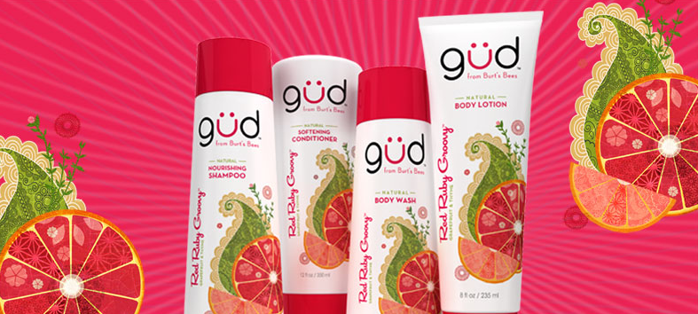 FREE sample of Gud Red Ruby Groovy Shampoo and Conditioner