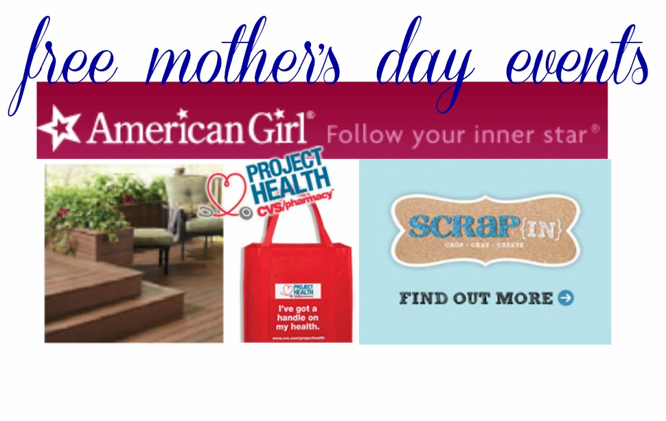 Free Mother's Day Activities and Events