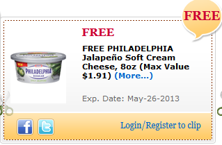 Free Philadelphia Jalapeno Soft Cream Cheese Commissary eCoupon