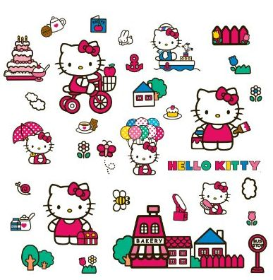 Hello Kitty Wall Decals Stickers Deals