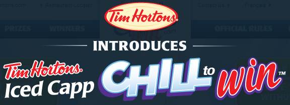 Tim Hortons Chill to Win Sweepstakes