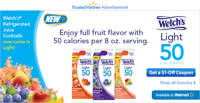 Welch's Light 50 Coupons
