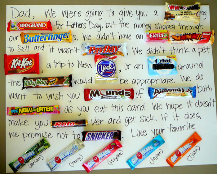DIY Homemade Father's Day Candy Card