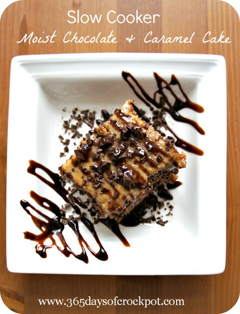 Slow Cooker Moist Chocolate Caramel Cake Recipe