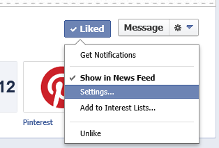 Facebook Newsfeed Settings