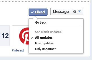 Facebook View All Updates Settings