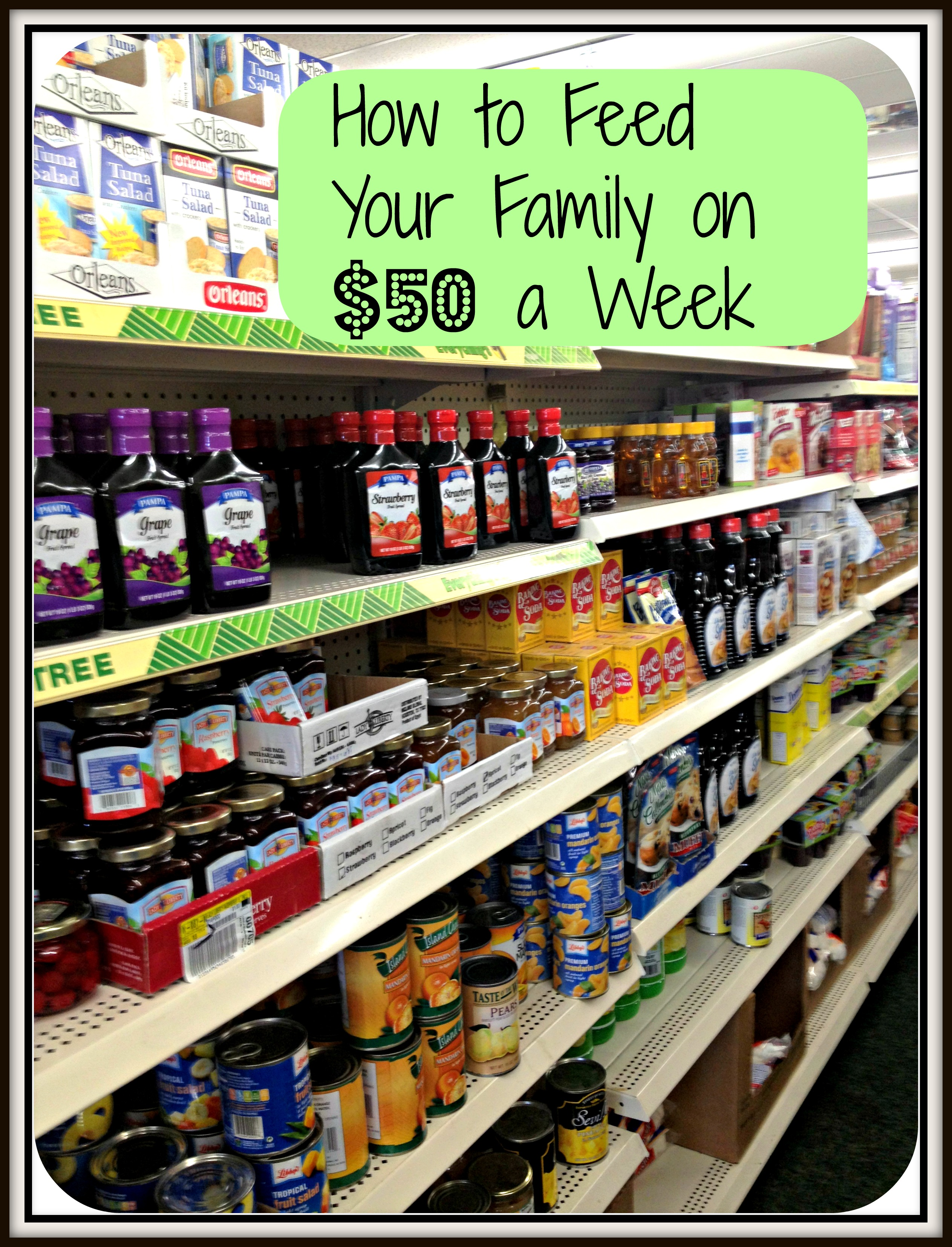 How To Feed Your Family On Fifty $50 A Week