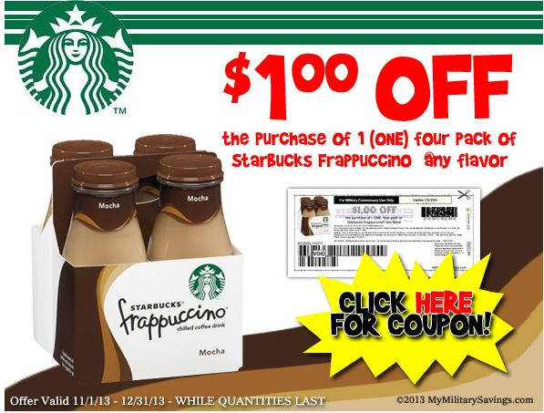 starbucks frappucino coupons
