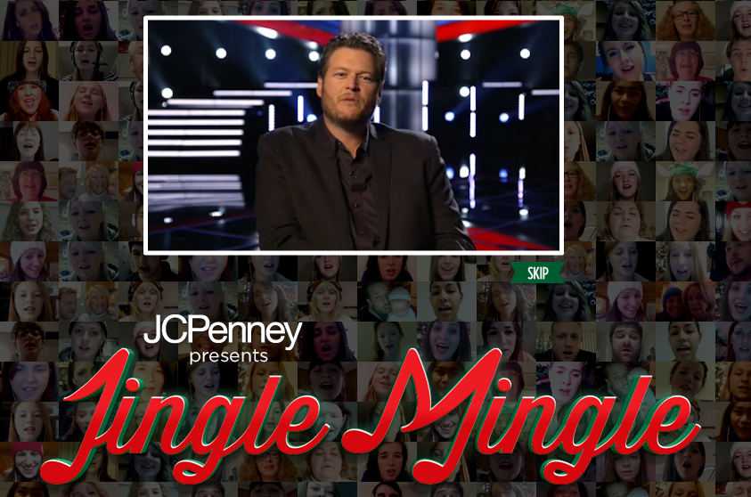 jcpenney jingle mingle with blake shelton uso