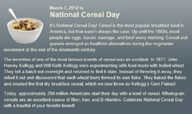 National Cereal Day Deals Coupons
