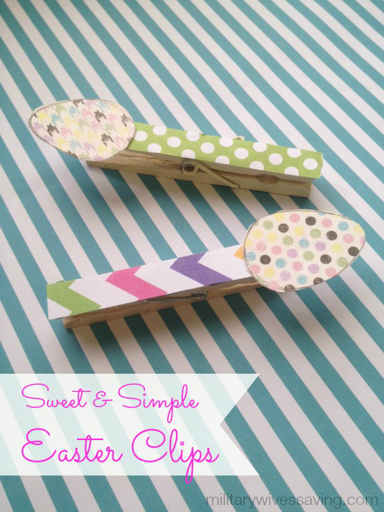DIY Easter Clips Clothes Pins Idea