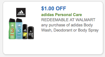 Free Adidas Body Wash Coupons