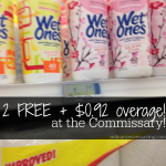 Commissary Deals Free Wet Ones Wipes