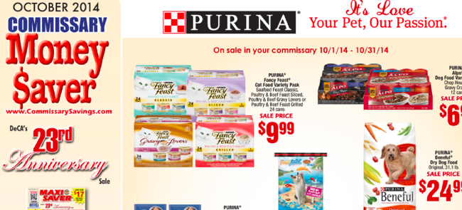 Commissary Money Saver October 2014!