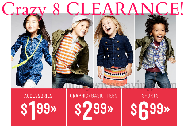 Crazy 8 Kids Clothes Clearance Deals
