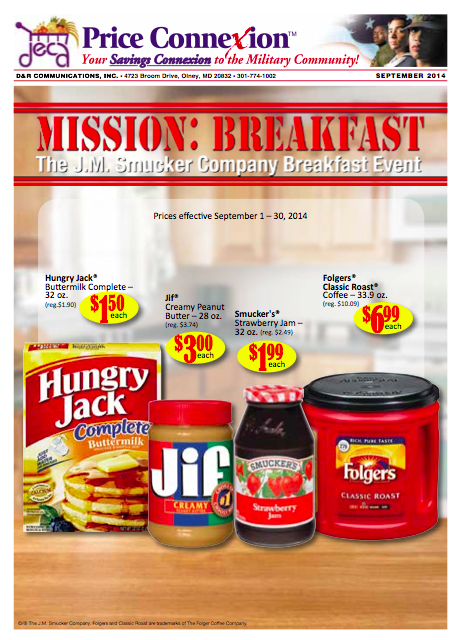 Commissary Price Coupon Connexion September 2014