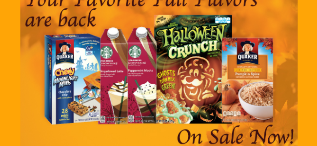 Fall Flavors On Sale At The Commissary!