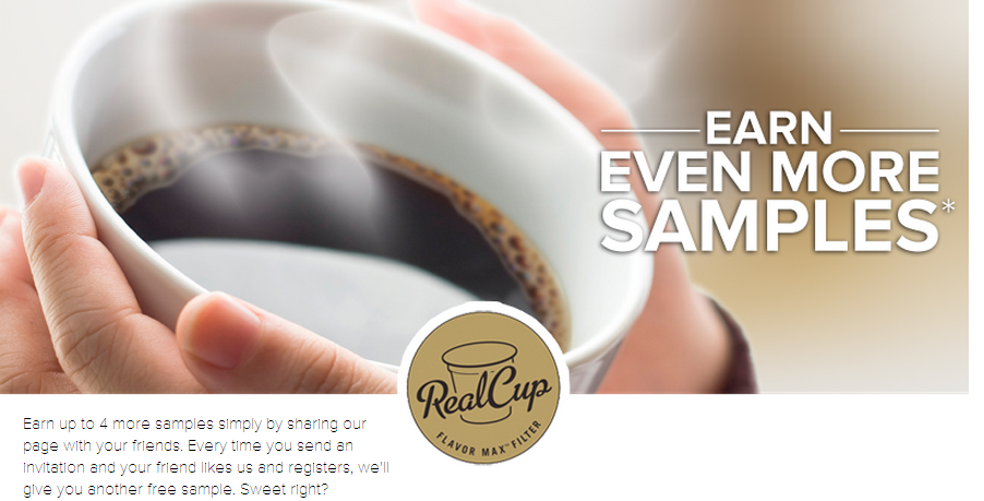 FREE RealCup k-cup coffee samp...